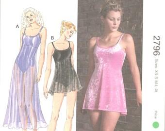 Kwik Sew 2796 1990s Misses Empire Leotards Pattern Attached Skirt Scoop Neck Womens DANCE Sewing Pattern Size Xs S M L Xl Bust 31 - 45 UNCUT