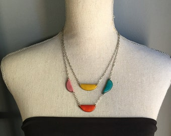Spring colors simple lightweight necklace