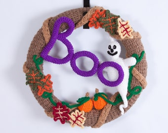 Crochet Pattern 110 - BOO Halloween Wreath