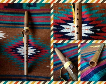 Native American Style Flute in G minor, Black Mesquite Wood