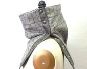Sale 30% off Gray plaid wool cowl, unisex