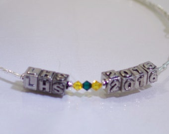 CLASS OF 2016 - Necklace or Bracelet - Silver & Pewter