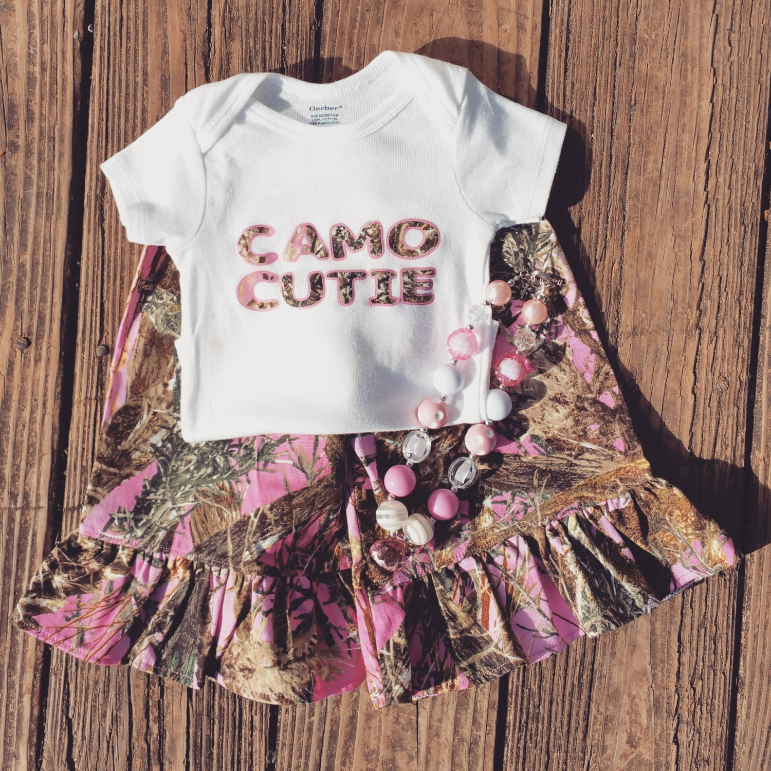 Baby Girl Camo Clothes Infant Toddler Pink by JustSewItandMore