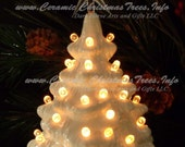 White Christmas - Ceramic Lighted Christmas Tree 7 inches