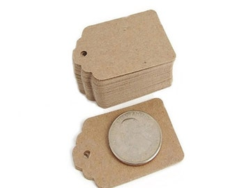 """Mini tags, Price tags, Kraft tags, Gift tags, Rustic Wedding, Paper tags, Wedding Favor Tags, Hang Tags, Set of 50, Size 1.75"""" x 1.25"""""""