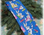 Rare Bugs Bunny Looney Tunes Warner Brothers WB Neck Tie Vintage Balancine Necktie 58x4