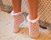 Crochet PATTERN  - Lace Frill Socks (sizes baby to adult)