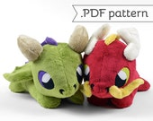 Eastern & Western Dragon Plush .pdf Sewing Pattern