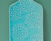 Cheese board,porcelain glazed in aqua