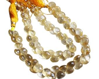 Citrine Briolette Beads, Onion Briolettes, 8-9mm, November Birthstone, SKU 2082A