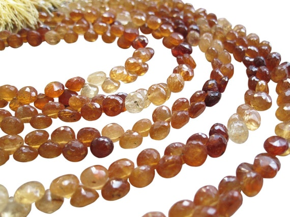 hessonite beads hessonite garnet beads briolettes luxe aaa
