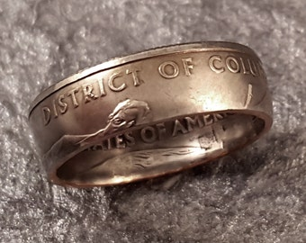 Coin Ring District of Columbia Your SIZE 5 to 10.5 Washington DC MR0705-TSTDC