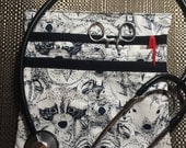 RN Scrub Pocket Black and White Animal Fabric in Stock Hip Bag With Pockets
