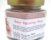 Rose Polishing Mask - Rose Facial Scrub - Cleansing Mask  - Organic Cleansing Grains - Miracle Grains