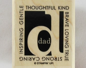 Dad Stampin Up! Rubber Stamp #RS215