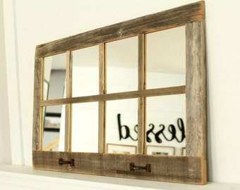 Farmhouse Homesteader Mirror - 8 Pane