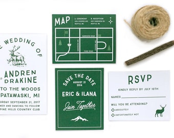Wedding invitation - Woodland Invitation Set