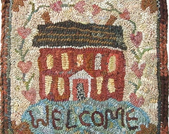 Mossy Hill rug hooking pattern