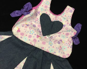 Reversible sparkle fairy top and skit set sizes 1-4 years