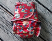 One Size Stay Dry Overnight Fitted Cloth Diaper in Woodland Creatures by Soothe Baby