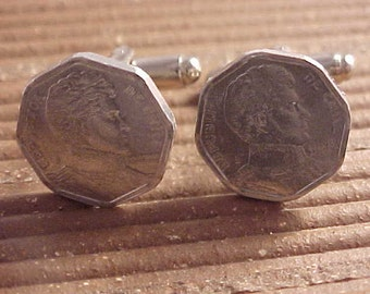 Chile Coin Cuff Links