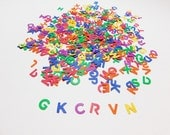 Primary Colors Mini Alphabet Letters Paper Die Cuts for Scrapbooking, Card Making and Party Decorations - Ready to Ship - Free Shipping