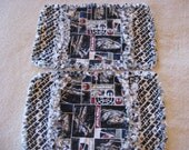 2 New  Star Wars Baby Boy Burp Cloths with flannel backing