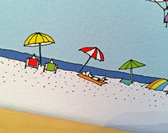 Set of Down the Shore Cards - Beach Parasail Cards