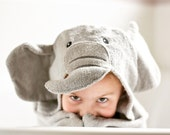 Elephant personalized hooded towel