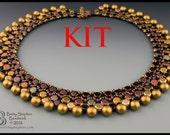 Honey Necklace Kit beadweaving wine colorway