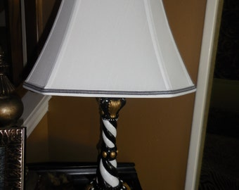 mackenzie inspired custom painted lamp