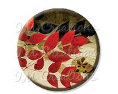 """50% OFF - Pocket Mirror, Magnet or Pinback Button - Wedding Favors, Party themes - 2.25""""- Autumn Leaves MR430"""