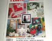 Plastic Canvas Corner Magazine - February 1991 Issue - Valentines Decor - Bath Decor - Monster Magnets - Plastic Canvas Pattern Book