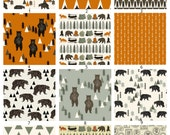 Design Your Own Camping Bears Crib Set, Indie Fabric Printed Just for You