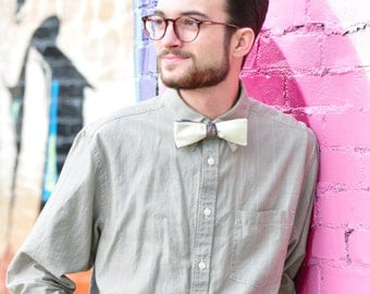 Self Tie Bow Tie for Wedding Days Made in Asheville, NC MM-#15-47