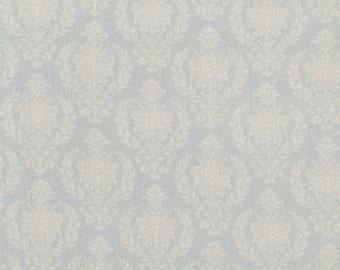Tilda Fabric, Tilda Damask Teal Fat Quarter, The Corner Shop Collection, Pure Cotton Fabric, Fat Quarter, 50 cm x 55 cm