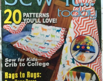 Sew-It Today Magazine August September 2013, Home Decor Rags To Rugs, Sew For Kids Crib To College