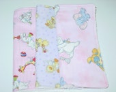 Set of 3 Suzy Zoo baby wash cloths/reuseable wipes