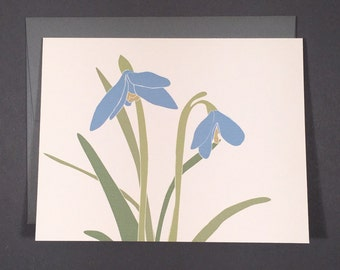 Snowdrop Single Card