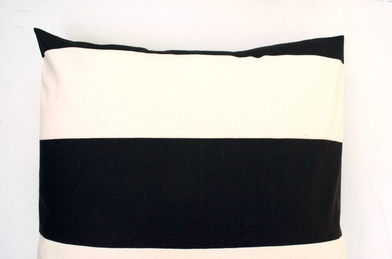 Black Ivory Euro Sham Large Pillow Cover Cabana Black Cream