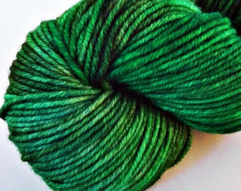 OOAK Green - Semi-Solid Tonal - Hand Dyed SW Merino Worsted Weight Yarn - Robust (Worsted)