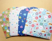 Set of 3 Choose Your Pattern Handmade Envelopes, Gift card holders, cute design