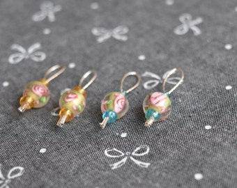 Cape Rose Snagless Stitch Markers - Set of 4 (Fits up to US7)