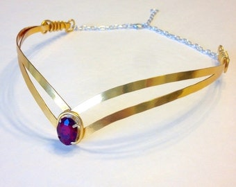 SAILOR MOON Tiara Jewel Headband  - Choose Your Own COLOR - Cosplay Scout Costume Headpiece - Hand Crafted Metal