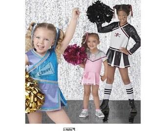 CHEERLEADER COSTUME PATTERN!  Cheerleading Outfit / Halloween - Dress Up / Size 3 -8