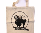 BISON - Eco-Friendly Market Tote Bag - Hand Screen printed (Ships FREE!)