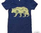 Womens California BEAR T-Shirt american apparel S M L XL (17 Colors Available)