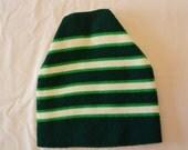 last chance Vintage Mint Forest GREEN wool ski hat winter cap