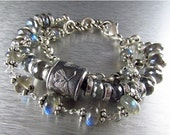 20 % Off Anne Choi Three Strand Labradorite And Silver Bracelet