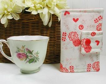 Tea Wallet, Tea Pouch, Tea Bag Wallet, Tea Bag Case ...Table for Two Floral in Romance